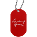 AMAZING GRACE Silver Dog Tag