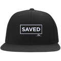SAVED Flat Bill Twill Flexfit Cap