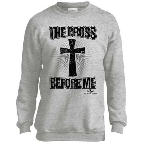 THE CROSS BEFORE ME Youth Crewneck Sweatshirt