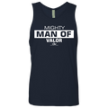 MIGHTY MAN OF VALOR Men's Cotton Tank