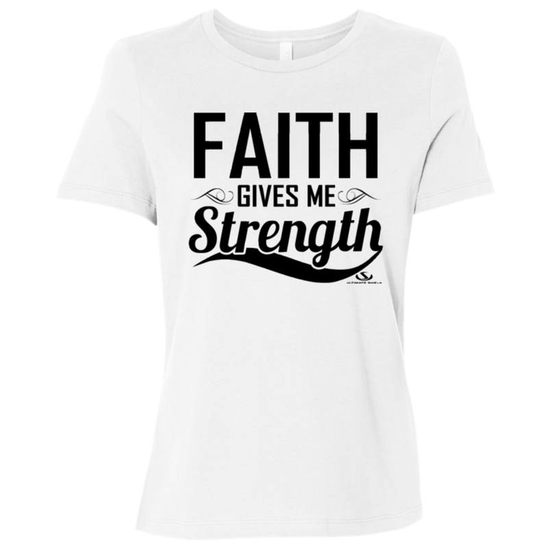 FAITH GIVES ME STRENGTH Ladies' Relaxed Jersey Short-Sleeve T-Shirt