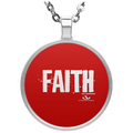 FAITH Circle Necklace
