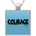 COURAGE Square Necklace