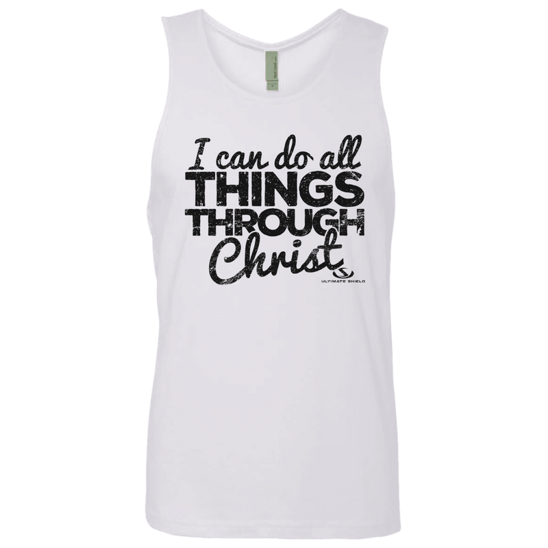 I CAN DO ALL THINGS THROUGH CHRIST Men's Cotton Tank