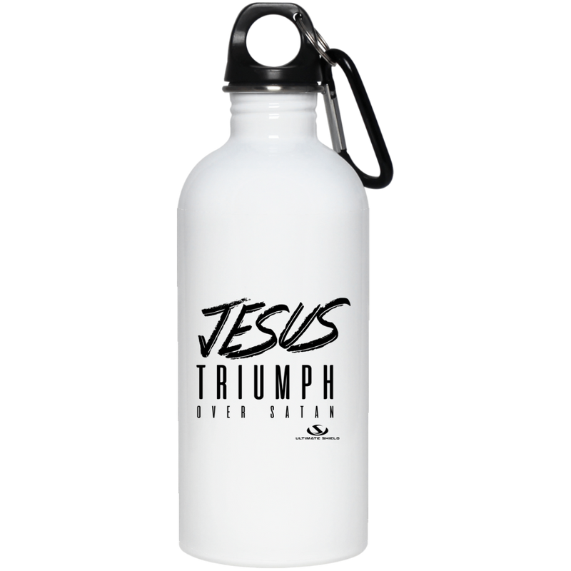JESUS TRIUMPH OVER SATAN 20 oz. Stainless Steel Water Bottle