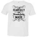 I am Fearfully and wonderfully made Toddler Jersey T-Shirt