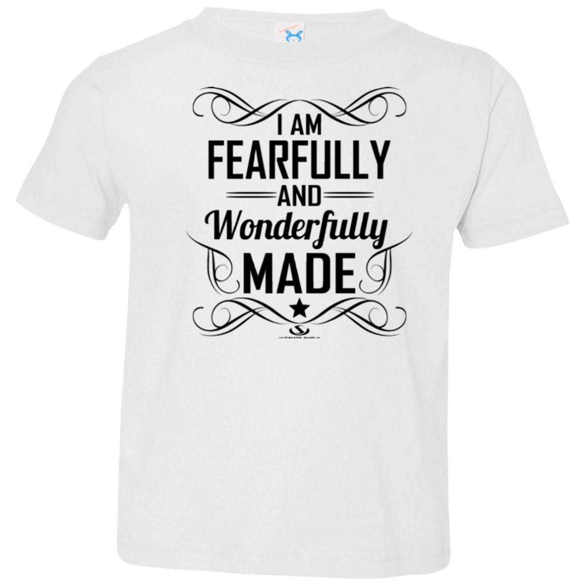 a9983a22d140c I am Fearfully and wonderfully made Toddler Jersey T-Shirt