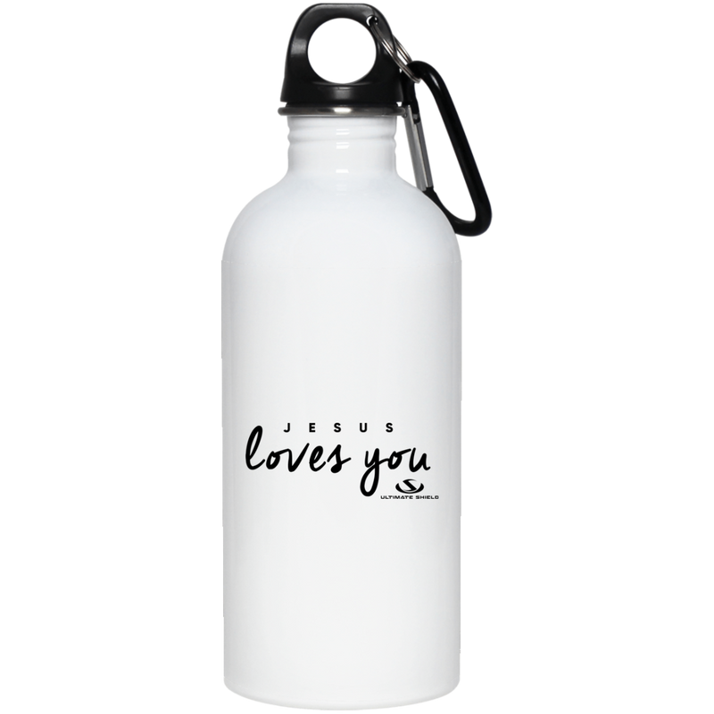 JESUS LOVES YOU 20 oz. Stainless Steel Water Bottle