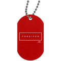 FORGIVEN Silver Dog Tag