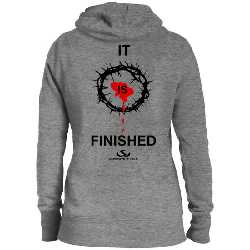 IT IS FINISHED Ladies' Pullover Hooded Sweatshirt