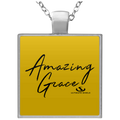 AMAZING GRACE Square Necklace