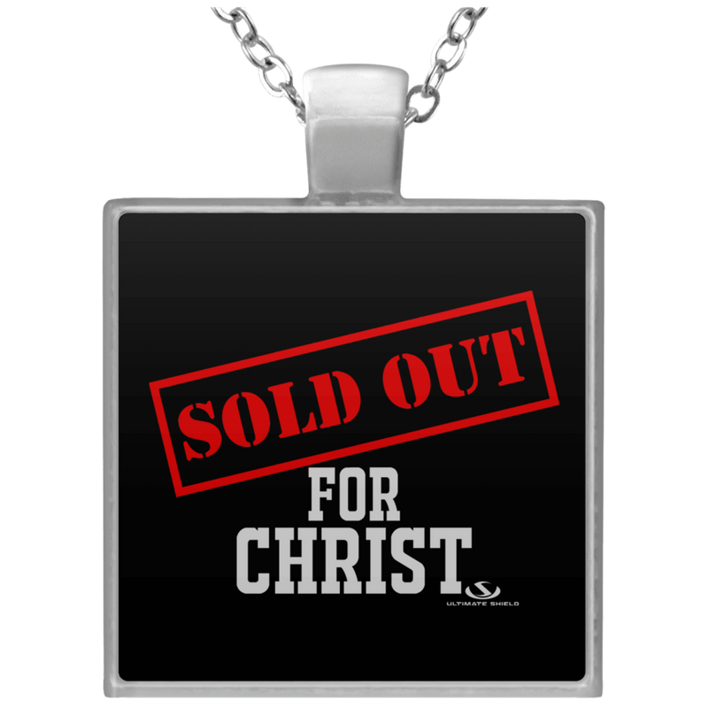 SOLD OUT FOR CHRIST Square Necklace