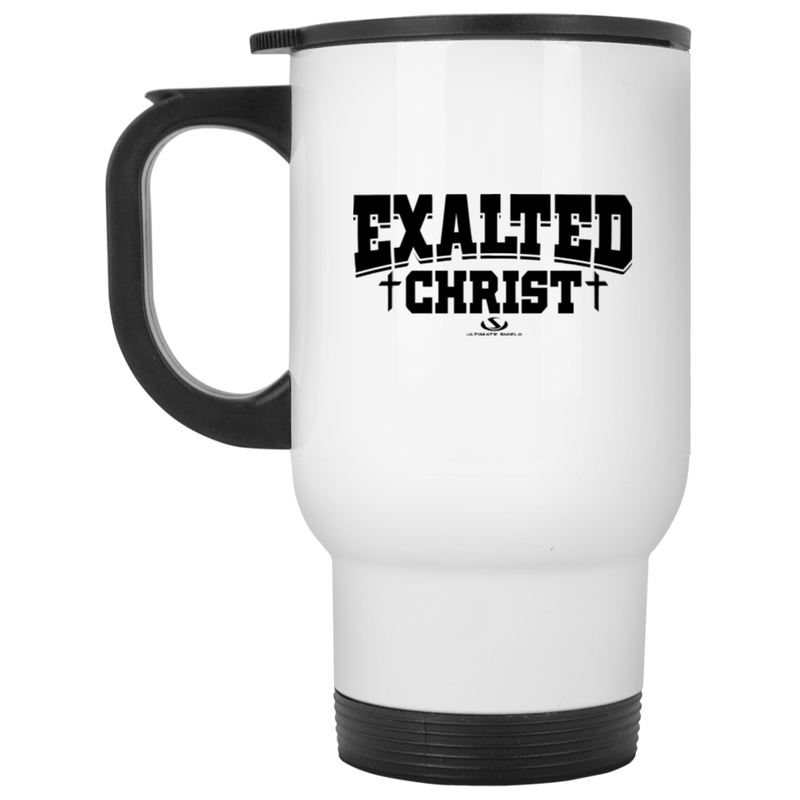 EXALTED CHRIST White Travel Mug