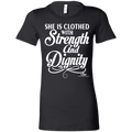 SHE IS CLOTHED WITH STRENGTH AND DIGNITY Ladies' Favorite T-Shirt