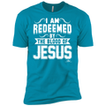I AM REDEEMED BY THE BLOOD OF JESUS Premium Short Sleeve T-Shirt