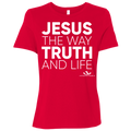 JESUS THE WAY TRUTH AND LIFE Ladies' Relaxed Jersey Short-Sleeve T-Shirt