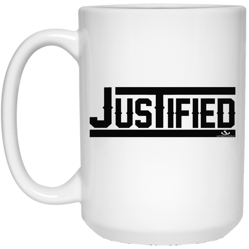 JUSTIFIED 15 oz. White Mug