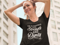 SHE IS CLOTHED WITH STRENGTH AND DIGNITY  Ladies' T-Shirt