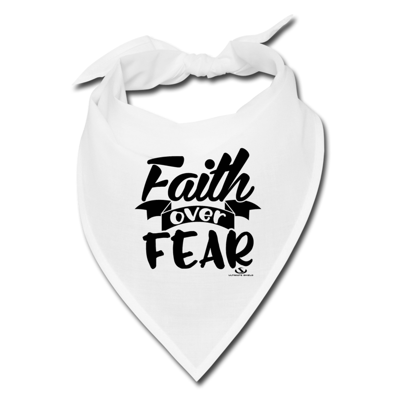 faith over fear Face Covering - white