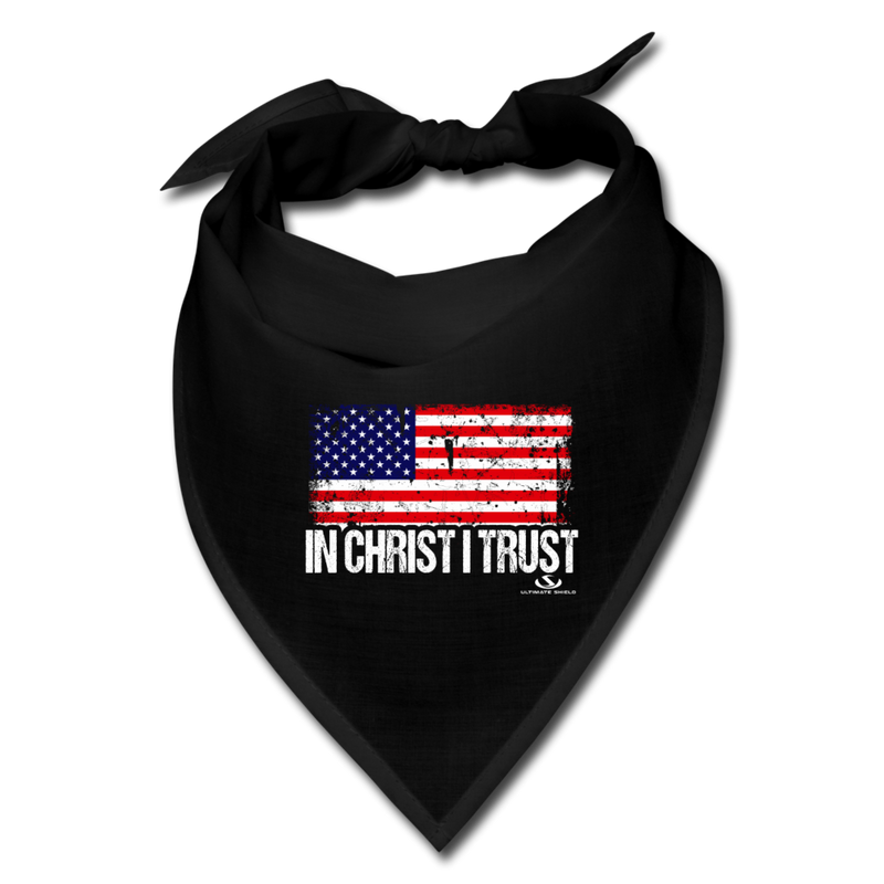 IN CHRIST I TRUST FACE COVERING - black