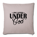 "ONE NATION UNDER GOD Throw Pillow Cover 17.5"" x 17.5"" - light taupe"