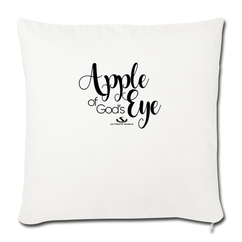"APPLE OF GOD'S EYE Throw Pillow Cover 17.5"" x 17.5"" - natural white"