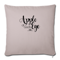 "APPLE OF GOD'S EYE Throw Pillow Cover 17.5"" x 17.5"" - light taupe"