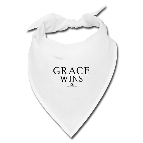 GRACE WINS Bandana - white