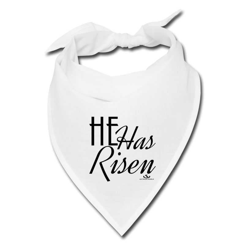 HE HAS RISEN Bandana - white