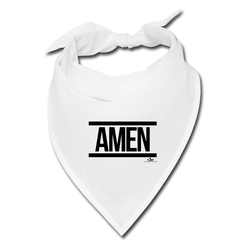 AMEN Bandana - white