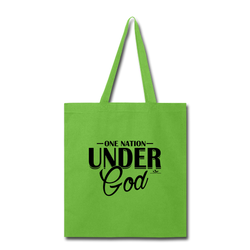 ONE NATION UNDER GOD Tote Bag - lime green