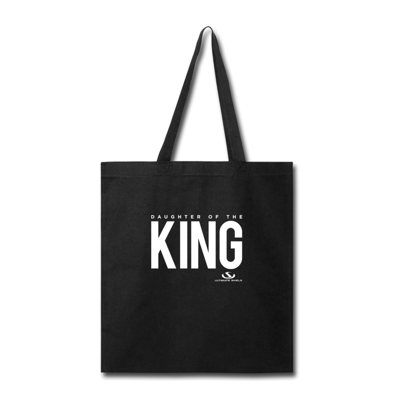 DAUGHTER OF THE KING Tote Bag - black