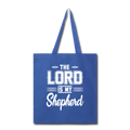 THE LORD IS MY SHEPHERD Tote Bag - royal blue