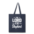 THE LORD IS MY SHEPHERD Tote Bag - navy