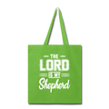 THE LORD IS MY SHEPHERD Tote Bag - lime green