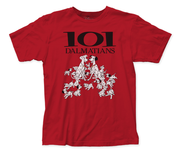 Disney - 101 Dalmatians Movie Poster Adult Fitted T-shirt
