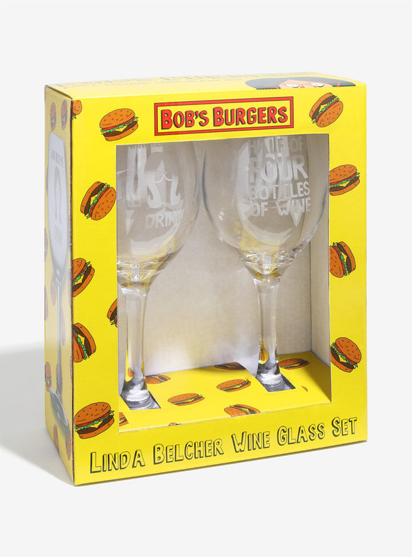 Bob's Burgers - Linda Belcher Wine Glass Set