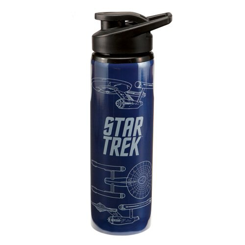 STAINLESS STEEL WATER BOTTLE - STAR TREK - 27OZ CUP GIFTS TOYS NEW