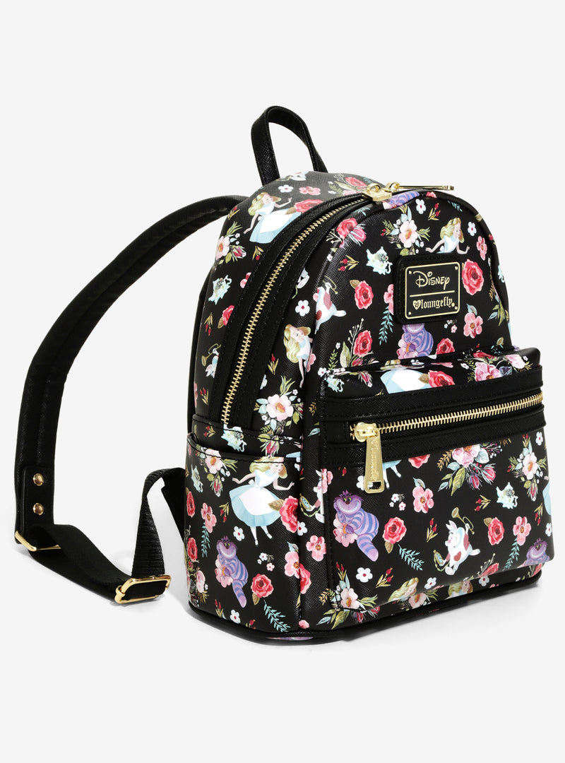 Loungefly Disney Alice In Wonderland Floral Mini Backpack
