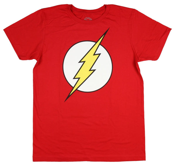 DC COMICS FLASH LOGO RED T-SHIRT - Kryptonite Character Store