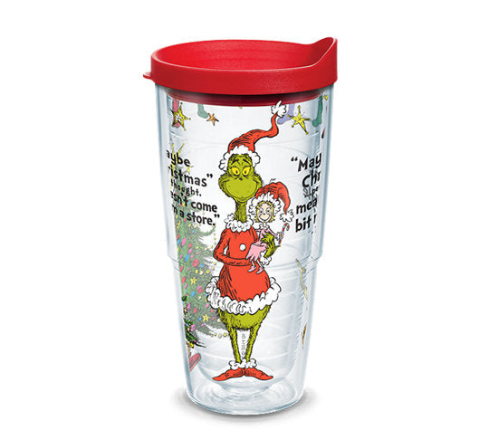 Dr. Seuss™ - Grinch Christmas Quote Wrap With Travel Lid 24 Oz- Kryptonite Character Store