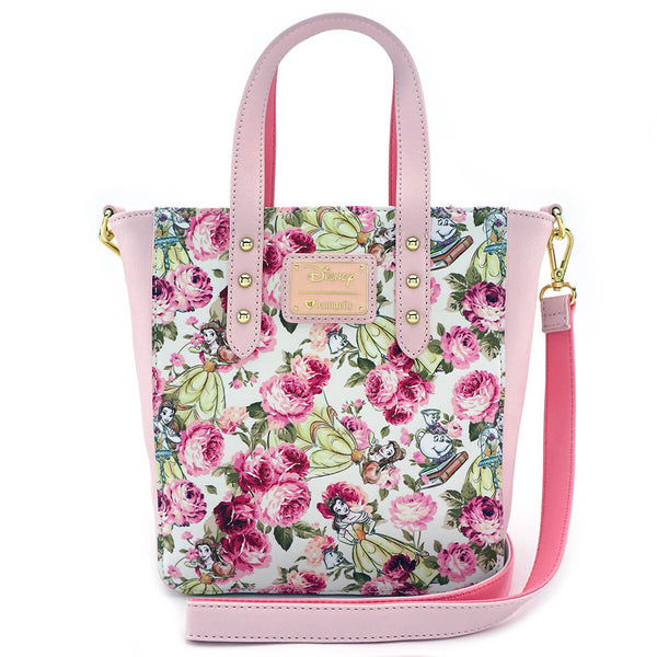 Disney Beauty and the Beast Character Floral AOP Tote Bag