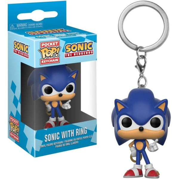 Sonic with Ring Funko Mini Pop Keychain - Kryptonite Character Store