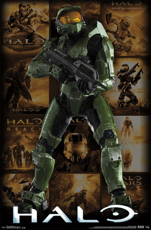 Halo - Key Art Grid Wall Poster - Kryptonite Character Store