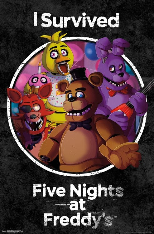 Five Nights at Freddy's - Survived Wall Poster - Kryptonite Character Store