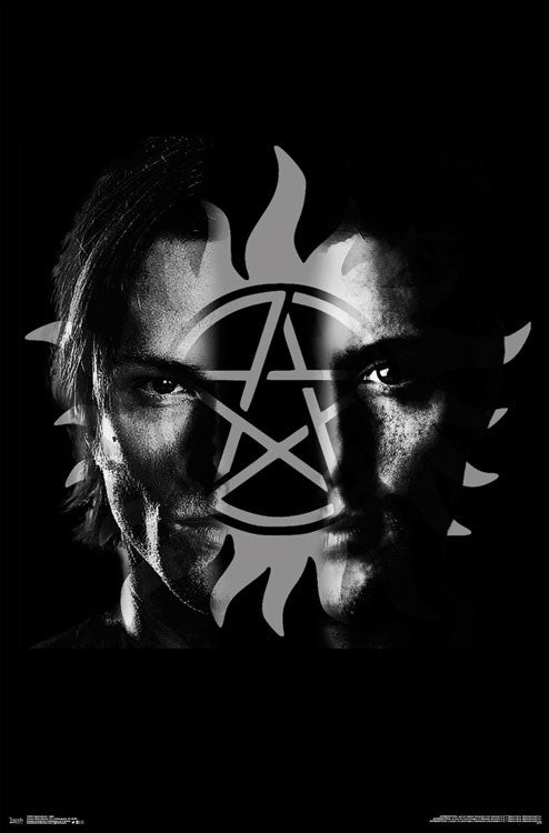 Supernatural Brothers Split Wall Poster