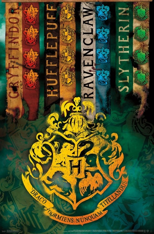 Harry Potter - Crests Wall Poster