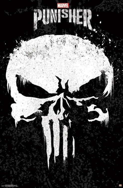 The Punisher - Show Logo Wall Poster - Kryptonite Character Store