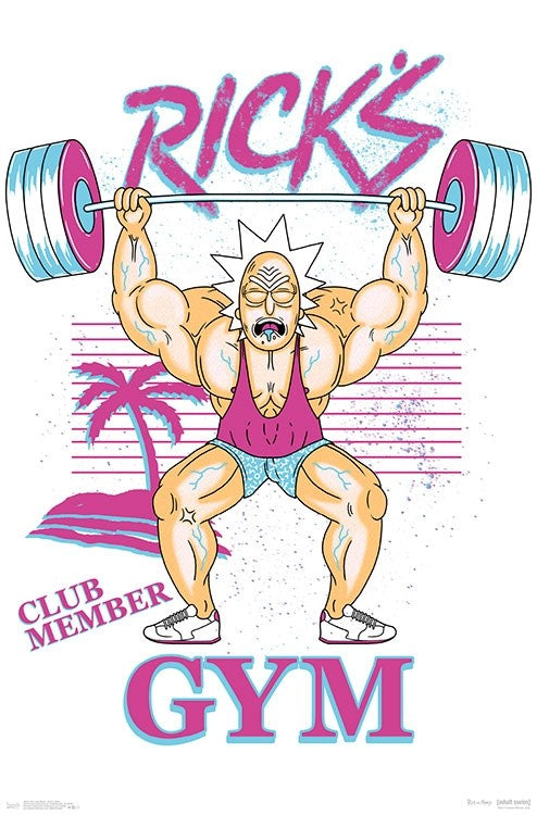 Rick and Morty - Rick's Gym Wall Poster - Kryptonite Character Store