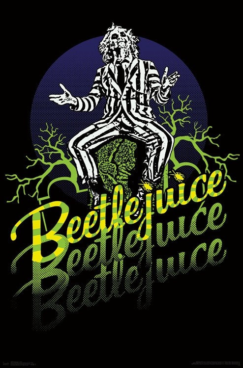 Beetlejuice - Neon Wall Poster - Kryptonite Character Store